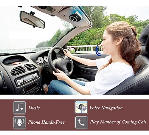 Bluetooth Car Kit HandsFree, YETOR Bluetooth Speakphone Sun Visor Multipoint Wireless Connection A2DP Streaming For iPhone, iPad, Samsung, HTC, LG, Android Phones&Tablet by YETOR (Image #4)