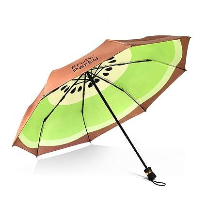 Paraguas plegable automatico Mujer niño Hombre an- Paraguas Doble Creativo Doble de la Fruta del