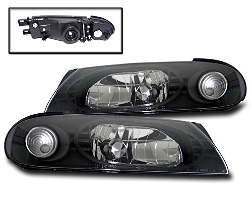 ZMAUTOPARTS Crystal Headlight Lamp JDM Black For AltimaBase GLE GXE SE XE
