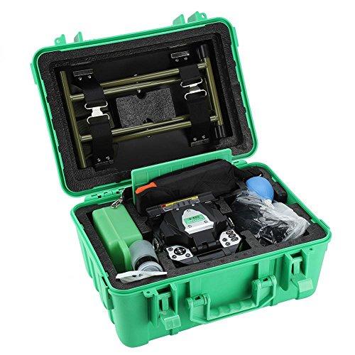- Akozon Fusion Splicer, Automatic Focus A-80S Fiber Optic Fusion Splicer with AC 100V-240V 50/60Hz, 5 Inch Digital LCD Screen Fusion Splicer Machine, Fiber Cleaver Kit (Green US Plug)