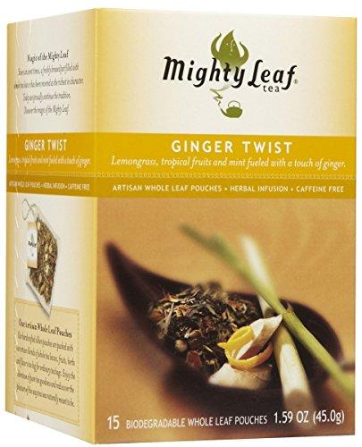 Mighty Leaf Ginger Twist (Mighty Leaf Tea Tea Ginger Twist, Whole Leaf Pouches, 15 ct)