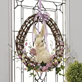 """RAZ Imports - 18"""" Easter Bunny with Easter Egg Wreath"""