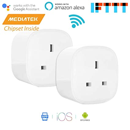 Electrical Sockets Wifi Smart Wall Socket 13a Outlet Glass Panel French App Remote Control Works With Amazon Echo Alexa Google Home