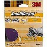 3M 99525ES 5 by 8-Inch 220 Grit SandBlaster Sanding Discs, 10-Pack