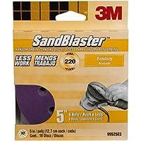 3M 99525ES Discos de lijar SandBlaster de 5 por 8 pulgadas y 220 granos, paquete de 10