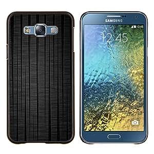 """Be-Star Único Patrón Plástico Duro Fundas Cover Cubre Hard Case Cover Para Samsung Galaxy E7 / SM-E700 ( Líneas negras"""" )"""