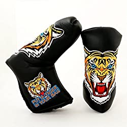 Tiger Golf Headcover For Blade Putter, Black