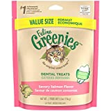 FELINE GREENIES Dental Treats for Cats Savory Salmon Flavor 5.5 oz.