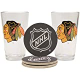 NHL Pint Glass and Coaster Set (2 Pack)