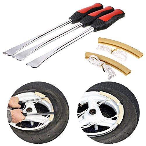 Sumnacon Tire Levers Spoon Set, Heavy Duty Motorcycle Bike Car Tire Irons Tool Kit,3 Pcs Tire Changing Spoon + 2 Pcs Rim Protector (11.6 Inch) by Sumnacon (Image #6)