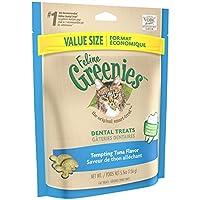 FELINE GREENIES Dental Cat Treats Tentador sabor a atún, 5.5 oz. Bolsa