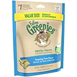 FELINE GREENIES Dental Cat Treats, Tempting Tuna Flavor, 5.5 oz. Pack, Make Great Holiday Cat Stocking Stuffers