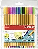 Stabilo Point 88 Wallet, 15-Color Set - 15-Color Wallet Set (3-Pack)