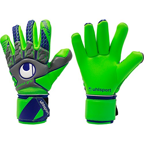 Surround Goalkeeper Glove (UHLSPORT TENSIONGREEN ABSOLUTGRIP FINGER SURROUND Goalkeeper Gloves Size 10.5)