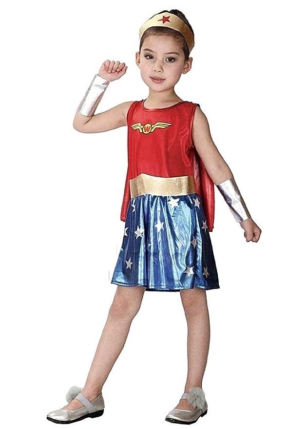 Vestido de Carnaval Woman Superhéroe mujer idea disfraz niña talla ...
