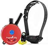 Bundle of 2 items - E-Collar - PG-300 - 1/2 Mile Remote Waterproof Trainer Educator - Vibration and Sound Stimulation collar only with PetsTEK Dog Training Clicker and Dog Whistle Training Kit