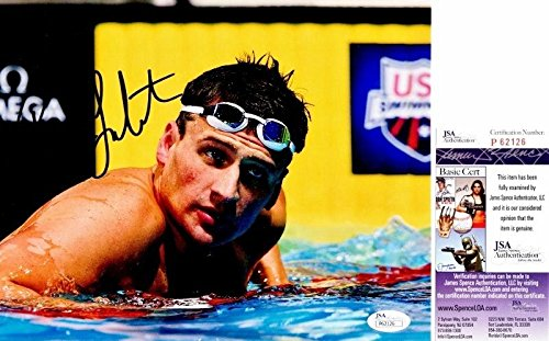 Ryan Lochte Signed - Autographed Olympic Swimming 8x10 inch Photo - Olympic Gold Medalist - Certificate of Authenticity - JSA Certified