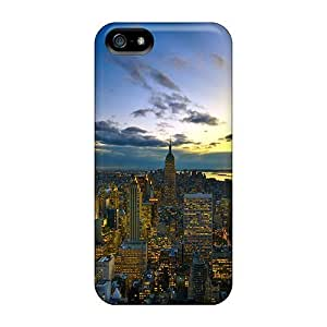 Cute Appearance Cover/tpu City Overview Case For Iphone 5/5s