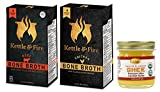 Kettle & Fire - Organic Bone Broth Combo with Pure Traditions ghee - ( 1 Each Beef and Chicken with 1.25 oz ghee)