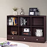 Harper&Bright Designs Sideboard Storage Console Table Living Room Console with Three Drawers (Espresso)