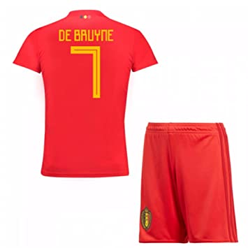 b03104b32 UKSoccershop 2018-19 Belgium Home Mini Kit (Kevin DeBruyne 7):  Amazon.co.uk: Sports & Outdoors