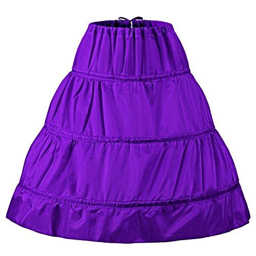 jupons courtes manches 3 crinoline Violet jupe NUOMIQI jupe TqnW4gYZ
