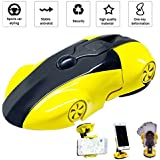 RCRunning Vehicle Bots Phone holder for Car, 360 Degree Rotation Car Phone Mount, Racing Car Styling for Universal iphone X/8Plus/8/7 Plus/7/6s Plus/6s/SE Samsung Galaxy S by (Yellow)