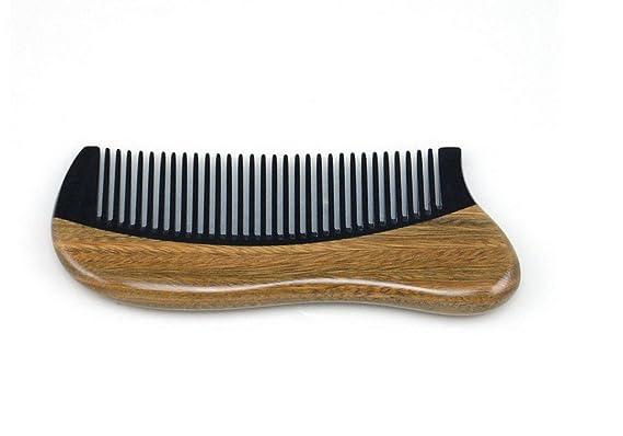 Green Sandalo Beautiful Healthy Hair Care pesca Oriental Horn Comb-Pettine in legno rBS7G