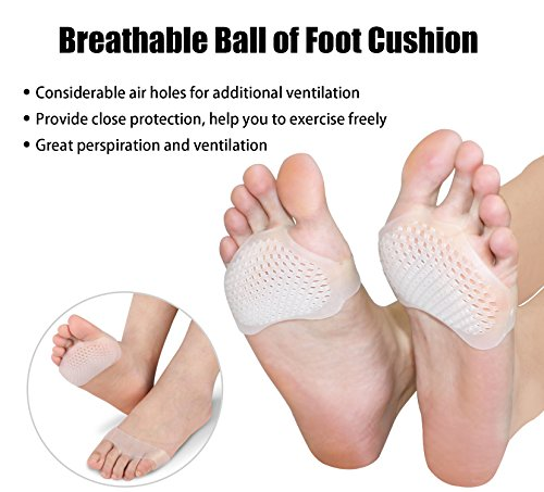 Metatarsal Pads for Women & Men Metatarsalgia Insoles Ball of Foot Silicone Cushions Soft Gel Foot Care for Heels Foot Pain Relief (6-Piece) by KRSUMOD (Image #4)