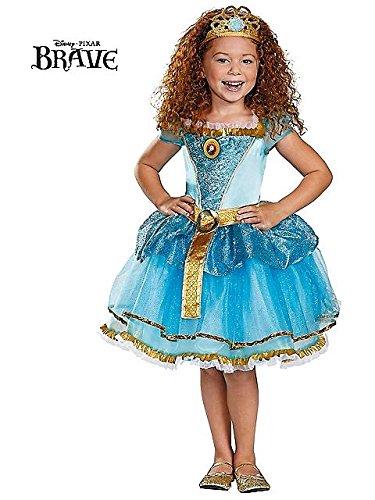 Disguise Disney Pixar Brave Merida Tutu Prestige Girls Costume, Medium/7-8