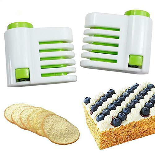 DIY Kitchen Tool Cake Slicer, Stratification Auxiliary, Bread Slice, Toast Cut, 5 Layers Leveler Slicer, Kitchen Fixator Tool (2PCS(Green)) by Sandistore Home (Image #5)