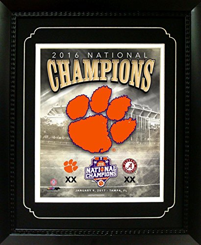 Encore NCAA Clemson Tigers 2016 National Champions Deluxe Frame, 11