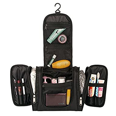 Toiletry Bag, E-BLOOMY Magical Series Hanging Travel Toiletry Packing Organizer Large Capacity (Mysterious Black)