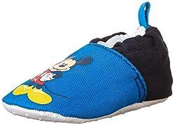 Disney Mickey Mouse Crib Shoe (Infant), Blue, 0-6 Months M US