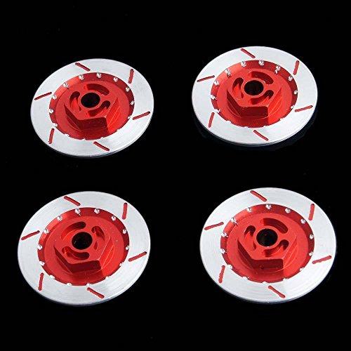 Hpi Brake Disk - RC N10075 Red Alum Wheel Brake Disc 4P For 1:10 HSP HPI Sakura Drift Car