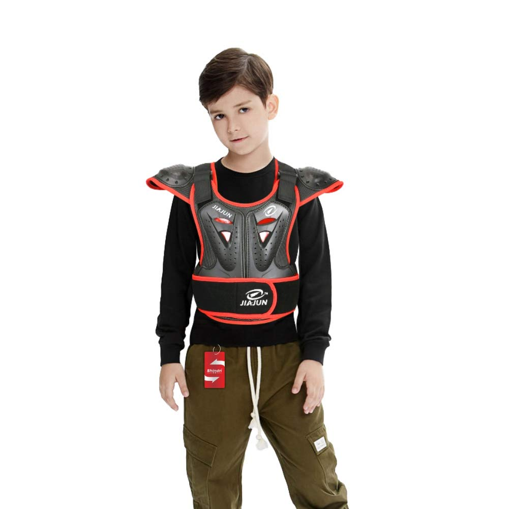Children's Sports Protective Vest high Strength PE Sports Protective Equipment (Black, M) by Shindn (Image #2)