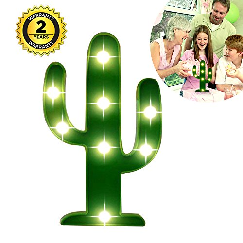 Cactus Light, Cute Night Table Lamp Light for Kids' Room, Bedroom, Gift, Party, Home Decorations Green -