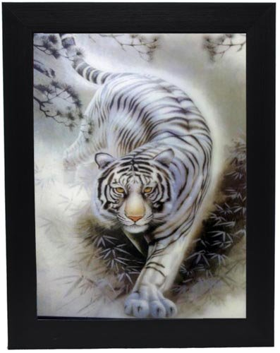 Amazon.com - 3d Pictures Frames (Lenticular) White Tiger Buy 1 Get 1 ...
