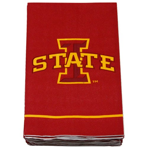 NCAA Iowa State Cyclones 16 pack 3-Ply Guest Towels - Cardinal (Guest Towel Pets)
