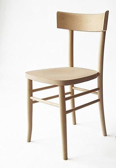 Dipingere Sedie In Legno.Sedia In Legno Nuova Gia Montata Grezzo Da Verniciare Modello Milano Vintage Anni 50 Amazon It Casa E Cucina