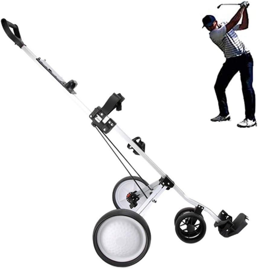 3 Ruedas Golf Carrito, Plegable Profesional Carro De Golf con Marcador De Aleación De Aluminio Portátil Carro De Golf, Fácil De Transportar Y Doblar