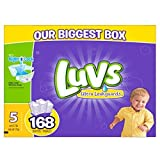 Health & Personal Care : Luvs Ultra Leakguards Diapers, One Month Supply, Size 5, 168 Count by Luvs