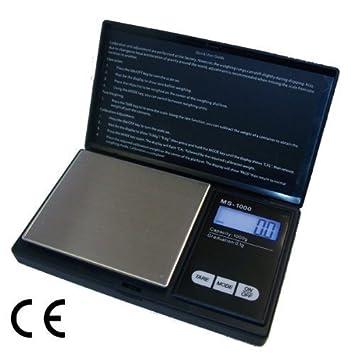 ArturoLudwig Báscula Digital de precisión - Peso máximo: 1000 g/Granularidad: 0, 1 g - Color Plateado by: Amazon.es: Hogar