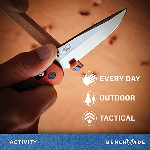 Benchmade - Griptilian 551 Knife with CPM-S30V Steel, Drop-Point Blade, Plain Edge, Satin Finish, Orange Handle by Benchmade (Image #3)