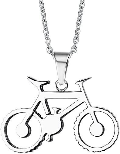 joielavie joyas 36,5 mm colgante para bicicleta plata tono acero ...