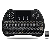 LED Backlit Mini 2.4G Wireless Keyboard Build-In Rechargable Battery with Touchpad mouse Remote Control for Pc, Pad, Xbox 360, Ps3, Google Android Tv Box, Htpc, Iptv