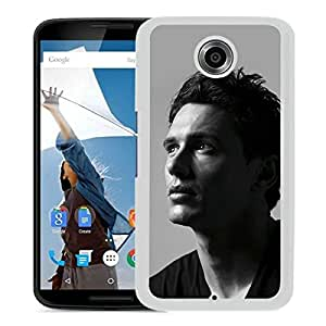 Unique Designed Skin Case For Google Nexus 6 With James Franco 1 White Phone Case