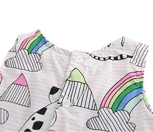 HowJoJo Girls Sleeveless Dresses Cute Cartoon Summer Skirt Dress 4T by HowJoJo (Image #4)