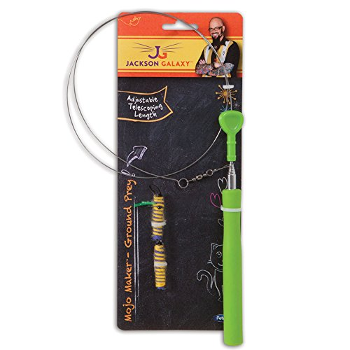 Jackson galaxy ground wand rope with 1 toy animals pet for Jackson galaxy pet toys
