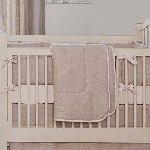 Light Pink Linen Crib Comforter